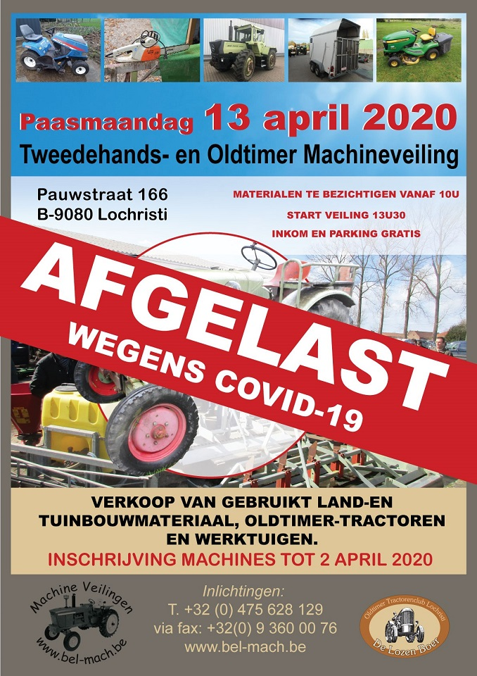 ANNULATIE Tweedehands- Oldtimer- en Machineveiling